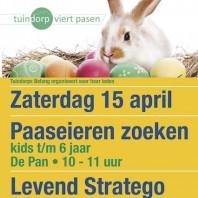 15 april Paaseieren Zoeken en Levend Stratego