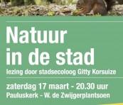 Natuur in de stad, lezing 17 maart