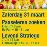 31 maart Paaseieren Zoeken en Levend Stratego