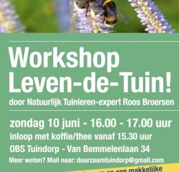 Workshop Natuurlijk Tuinieren op 10 juni!