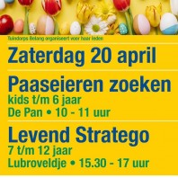 20 april Paaseieren Zoeken en Levend Stratego